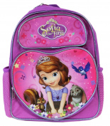Small Backpack - Disney - Sofia The First with Book Purple New 641498
