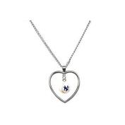 New York Yankees Mini Baseball Heart Necklace