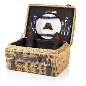 NCAA Cornell Big Red Champion Picnic Basket with Deluxe Service for Two, Black