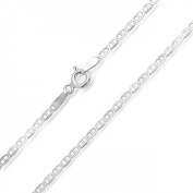 Bling Jewellery Sterling Silver Flat Round Mens Marina Chain Necklace Italy