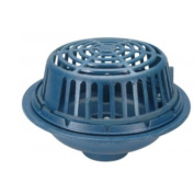 Zurn Wilkins ZC100-4NL Roof Drain Cast Iron Dome, 10cm Threaded Side Outlet, Neo-Loc Outlet