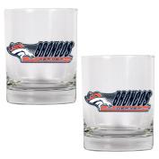 NFL Denver Broncos Two Piece Rocks Glass Set