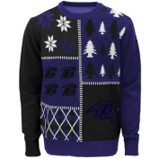 Baltimore Ravens Busy Block NFL Ugly Sweater XX-Large