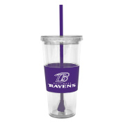 Boelter Lidded Cold Cup With Straw - Baltimore Ravens