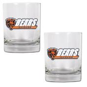 NFL Chicago Bears Two Piece Rocks Glass Set