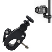 MyArmor Universial Quick Release Pipe Clamp Mounts with 1/4 Threaded Head for Cameras, Music Stands, Microphone Stands, Motorcycles, Bikes, Any Pipe or Bar whose Diameter between 17-35MM