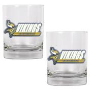 NFL Minnesota Vikings Two Piece Rocks Glass Set