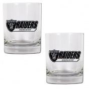 NFL Oakland Raiders Two Piece Rocks Glass Set