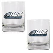NFL Philadelphia Eagles Two Piece Rocks Glass Set