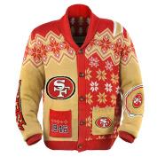 San Francisco 49Ers NFL Adult Ugly Cardigan Sweater Medium