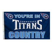 NFL Tennessee Titans In Country Flag with Grommets, 0.9m x 1.5m