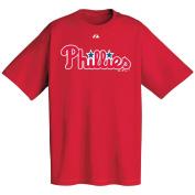 MLB Philadelphia Phillies Majestic Tee Shirt Short Sleeve