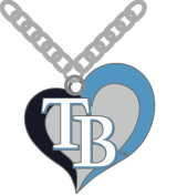 Officially Licenced MLB Swirl Heart Necklace Tampa Bay Rays