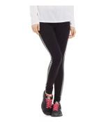 Material Girl Womens Foil Tuxedo-Stripe Yoga Pants classicblack M/32