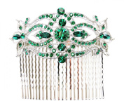 Huge Hair Comb Emerald Colour Green Floral Bridal Bridesmaid Wedding Party