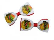 Chicago Blackhawks Hair Bow Pair