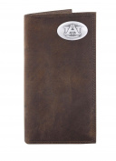 NCAA Auburn Tigers Light Brown Crazyhorse Leather Roper Concho Wallet, One Size