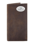 NCAA Lsu Tigers Light Brown Crazyhorse Leather Roper Concho Wallet, One Size