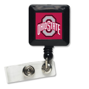Ohio State Buckeyes WinCraft Red Black Retractable Cord ID Badge Holder