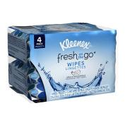 Kleenex On-The-Go Wet Wipes, White, Pocket Pack, 12 Wipes, 4 Ct