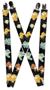 Buckle Down Mens Elastic Pokemon and Friends Print Clip-End Suspenders