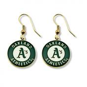 MLB Oakland Athletics Logo Dangler Earrings