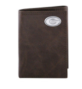 NCAA Georgia Bulldogs Brown Wrinkle Leather Trifold Concho Wallet, One Size