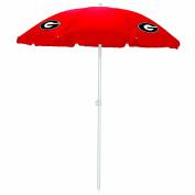 NCAA Georgia Bulldogs Portable Sunshade Umbrella, Red