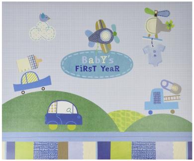 C.R. Gibson First Year Calendar, Boy Oh Boy