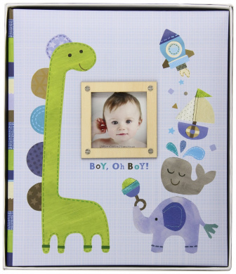 C.R. Gibson Loose-Leaf Memory Book, Boy Oh Boy Multi-Coloured