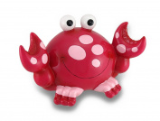 Whimsical Smiling Polka Dot Crab Coin Bank Piggy Bank