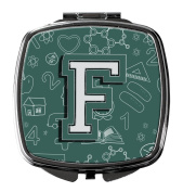 Letter F Back to School Initial Compact Mirror CJ2010-FSCM