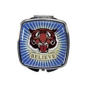 Believe Tiger Tattoo Compact Mirror