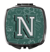 Letter N Back to School Initial Compact Mirror CJ2010-NSCM