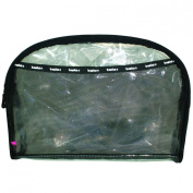 Basics Pvc Oval Clutch, Black/Clear - 1 Bag