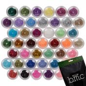 BMC 45pc Mixed Colour Design Shapes Nail Polish Art Shinny Sparkle Glitters Set