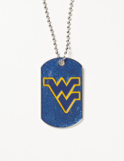 NCAA West Virginia Mountaineers Glitter Dog Tag