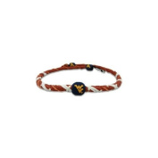 West Virginia Mountaineers Spiral Football Necklace
