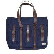 Nappy Dude Canvas Tote Bag - Navy