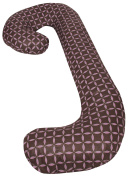 Snoogle Chic - 100% Cotton Snoogle Replacement Cover with Zipper for Easy Use - Brown & Lilac Rings