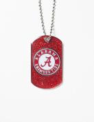 NCAA Alabama Crimson Tide Glitter Dog Tag