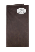 NCAA Alabama Crimson Tide Brown Wrinkle Leather Roper Concho Wallet, One Size