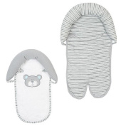 . Grey/White B is for Bear Double Car Seat and Stroller Headrest