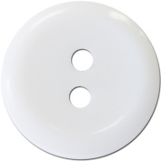 Slimline Buttons Series 1-White 2-Hole 1.9cm 4/Card