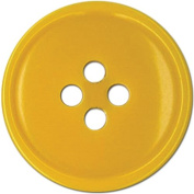 Slimline Buttons Series 1-Yellow 4-Hole 1.9cm 5/Card