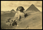 "PH02 Vintage 1800's Photo Egypt Egyptian Sphinx Pyramids Photograph Poster Re-Print - A3 (432 x 305mm) 16.5"" x 11.7"""