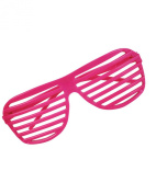 80's Neon Pink Toy Sunglasses Party Favours Costume Accessory