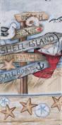 Beach Signs Shell Island Boardwalk 70cm Printed Kitchen Terry Towel Kay Dee