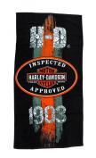Harley-Davidson 1903 Vintage Road Sign Beach Towel 80cm . X 150cm .