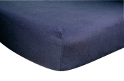 Trend Lab Navy Blue Flannel Fitted Crib Sheet